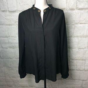 Michael Kors black blouse too women's large
